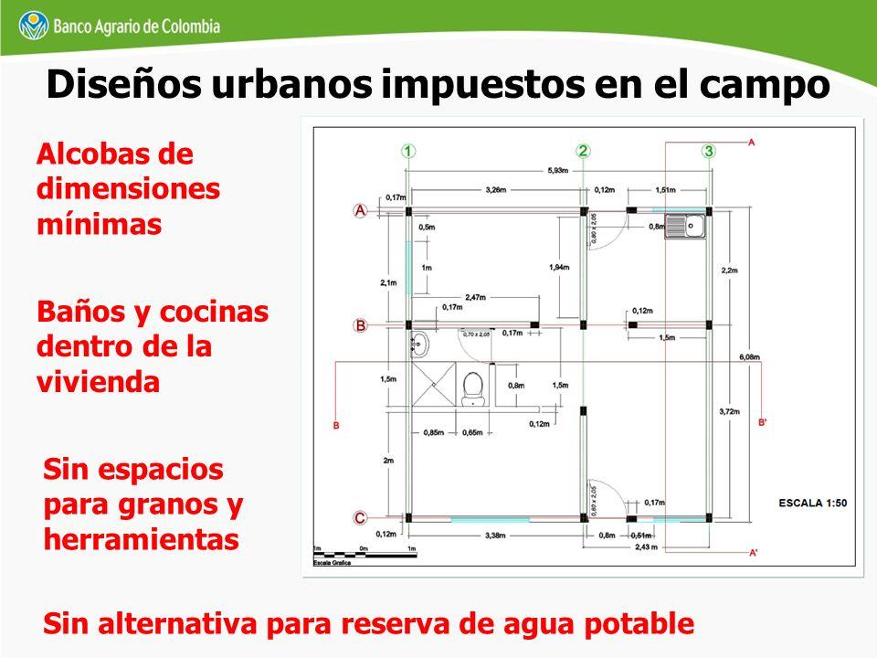 Diseños urbanos impuestos en el campo