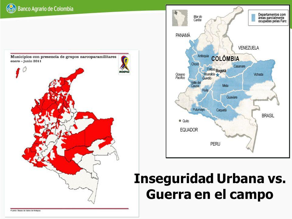 Inseguridad Urbana vs. Guerra en el campo