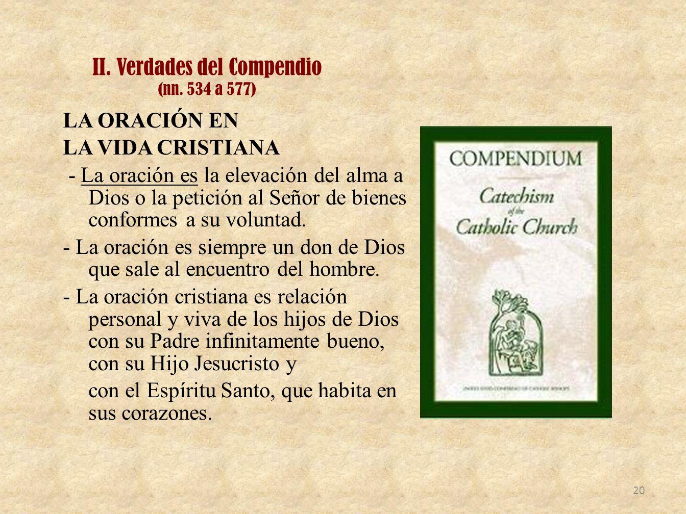 II. Verdades del Compendio (nn. 534 a 577)