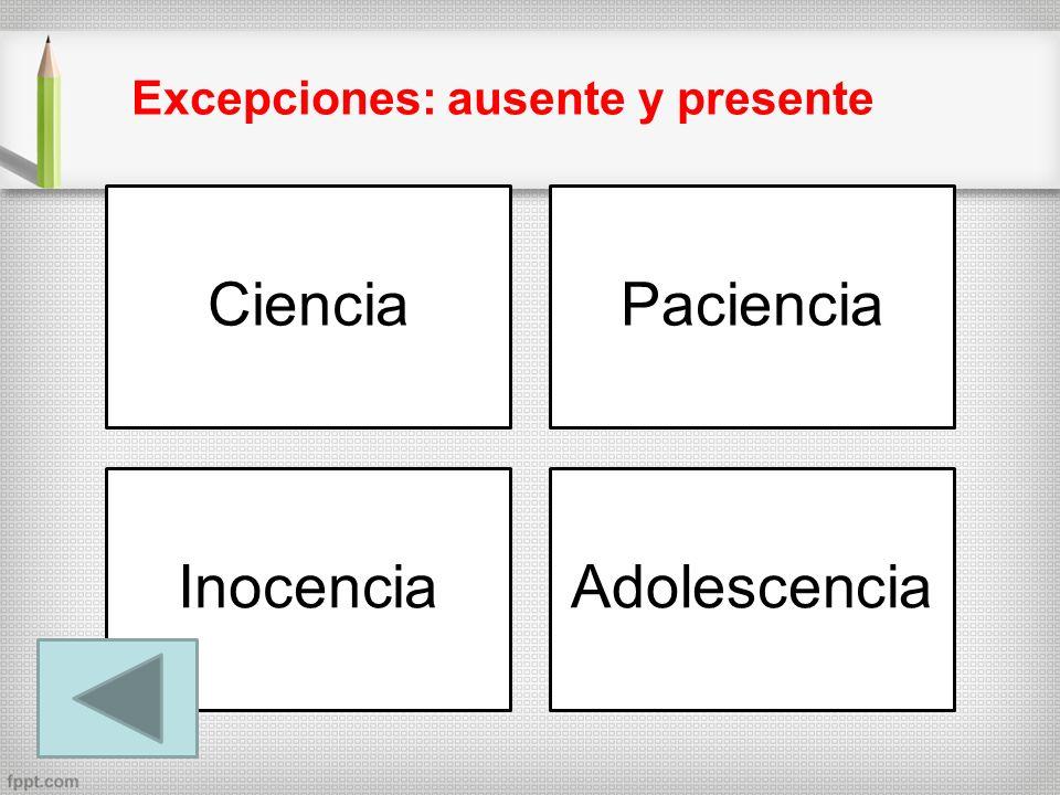 Ciencia Paciencia Inocencia Adolescencia