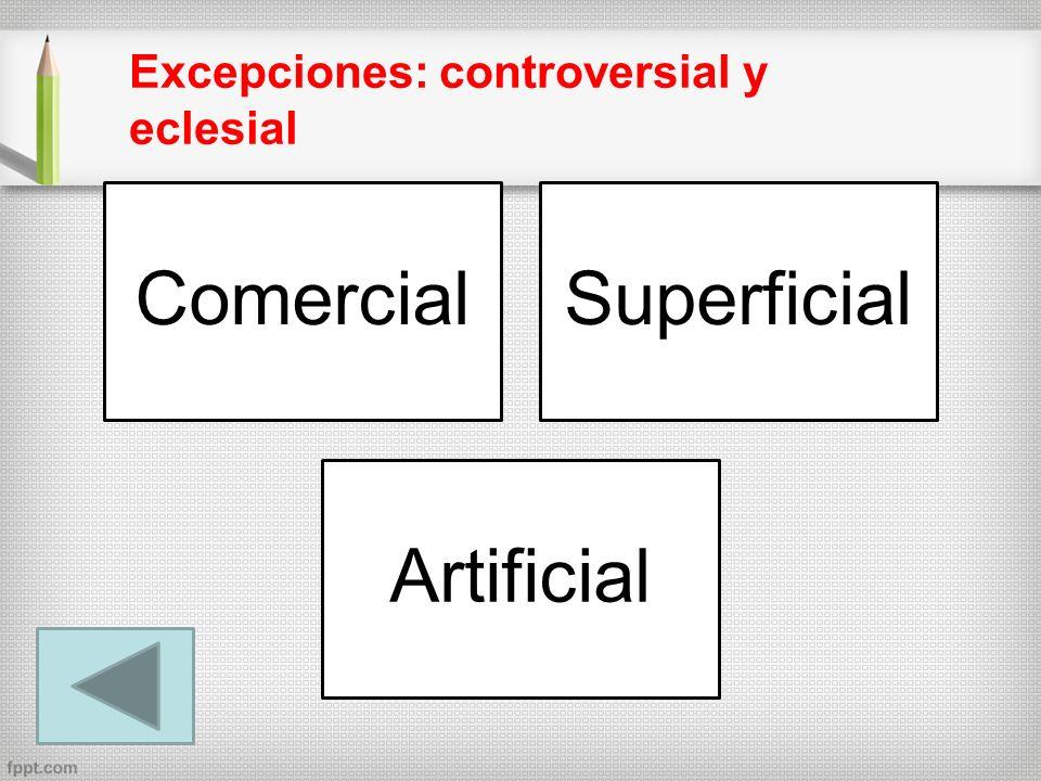 Excepciones: controversial y eclesial