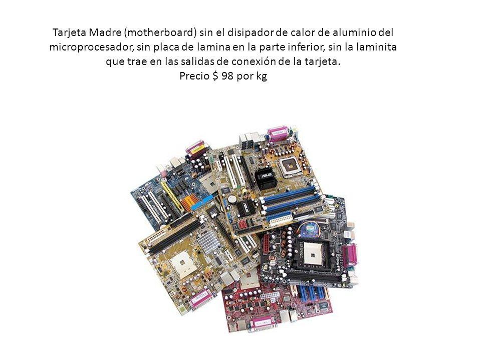 Tarjeta Madre (motherboard) sin el disipador de calor de aluminio del