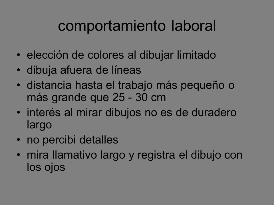 comportamiento laboral