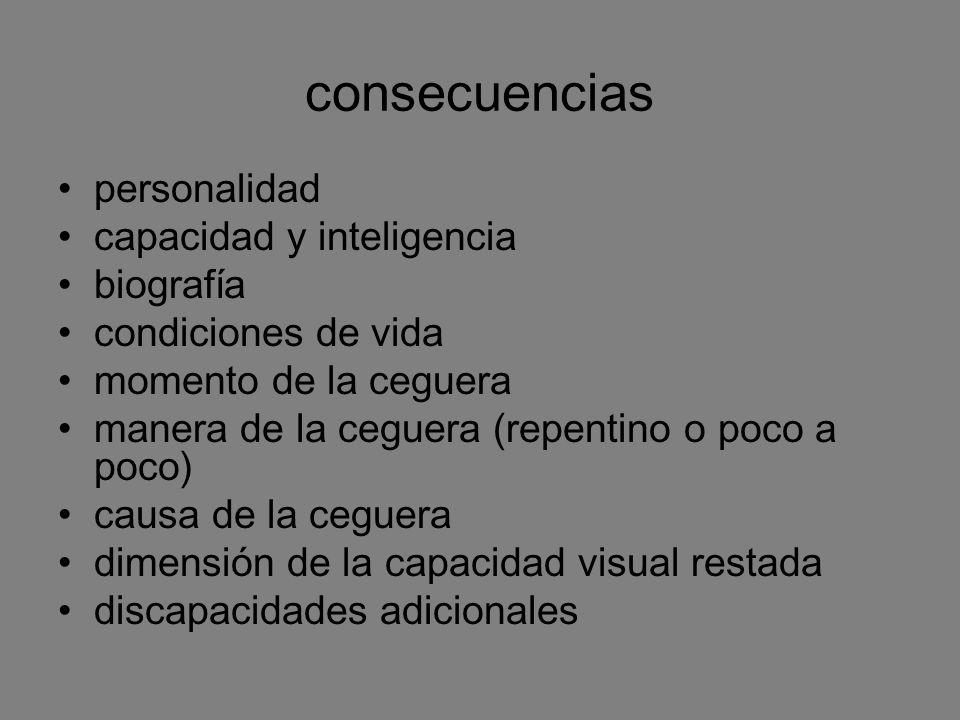 consecuencias personalidad capacidad y inteligencia biografía