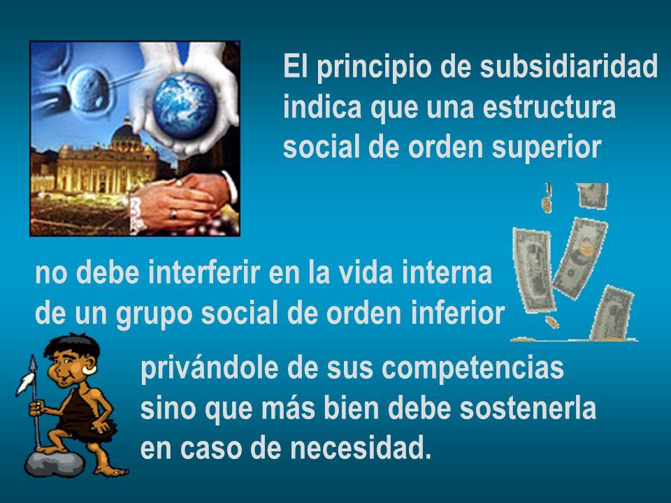 El principio de subsidiaridad