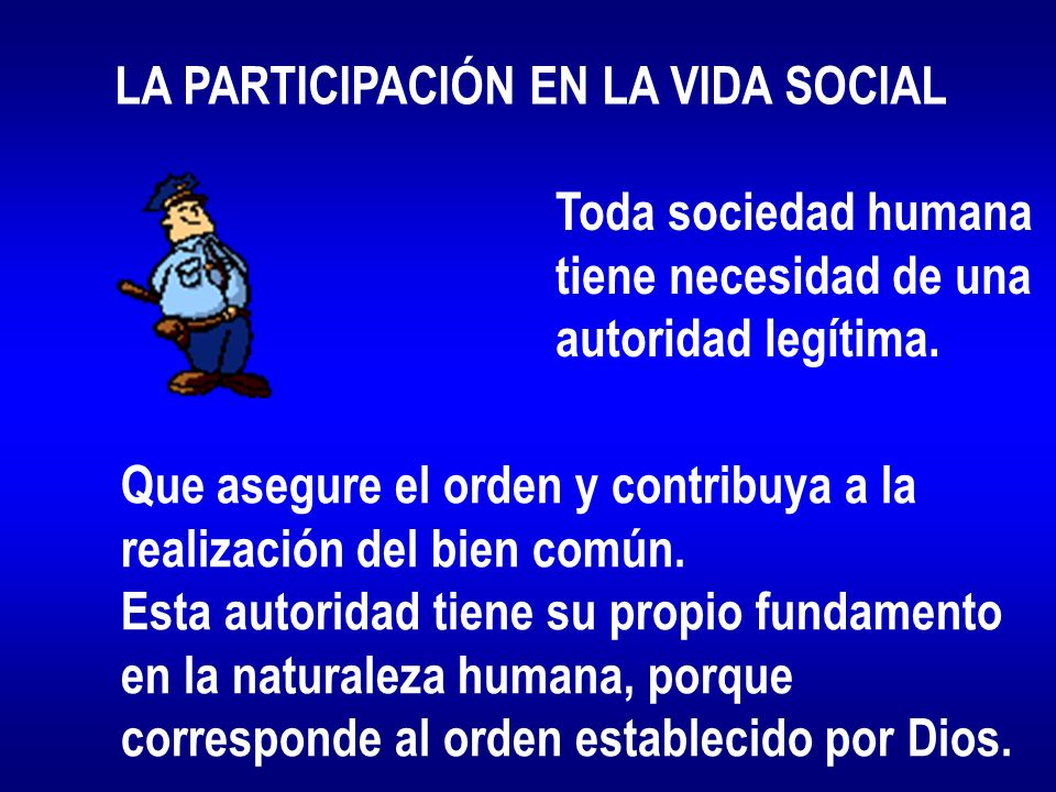 LA PARTICIPACIÓN EN LA VIDA SOCIAL
