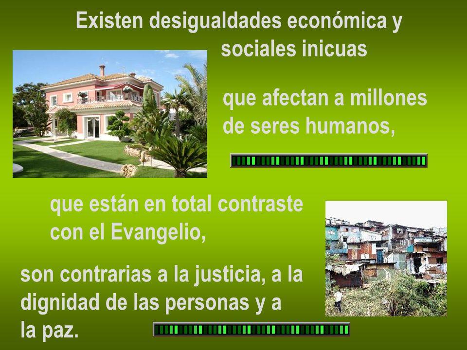 Existen desigualdades económica y