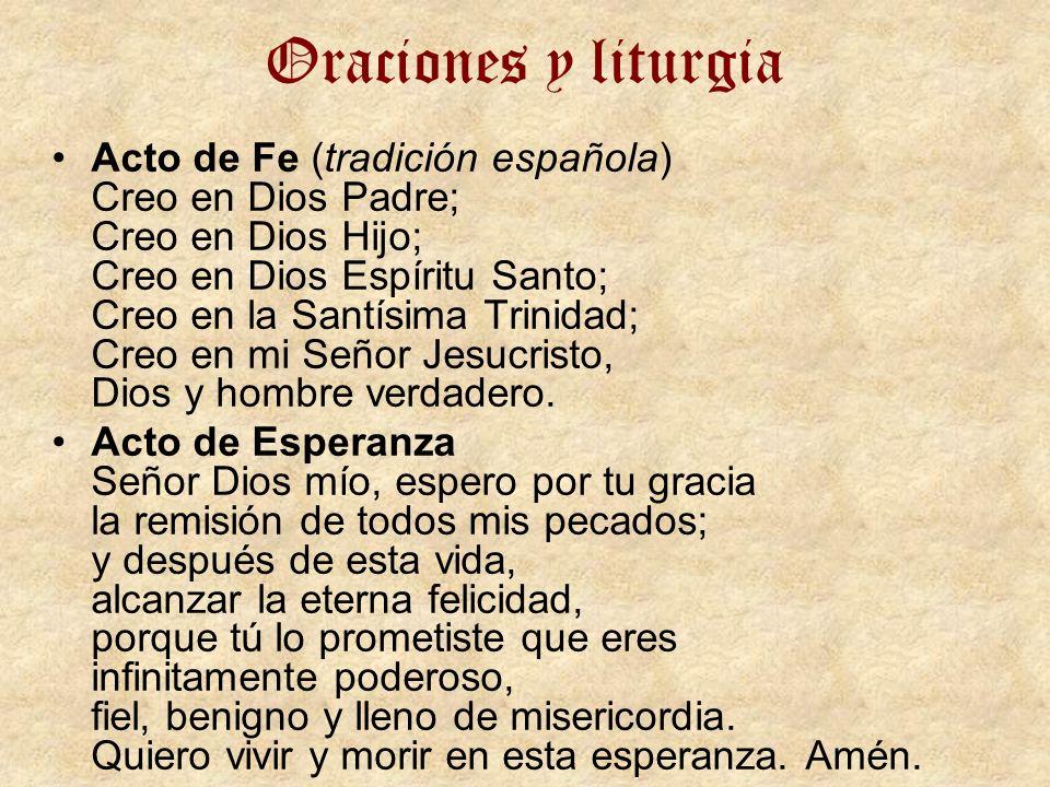 Oraciones y liturgia