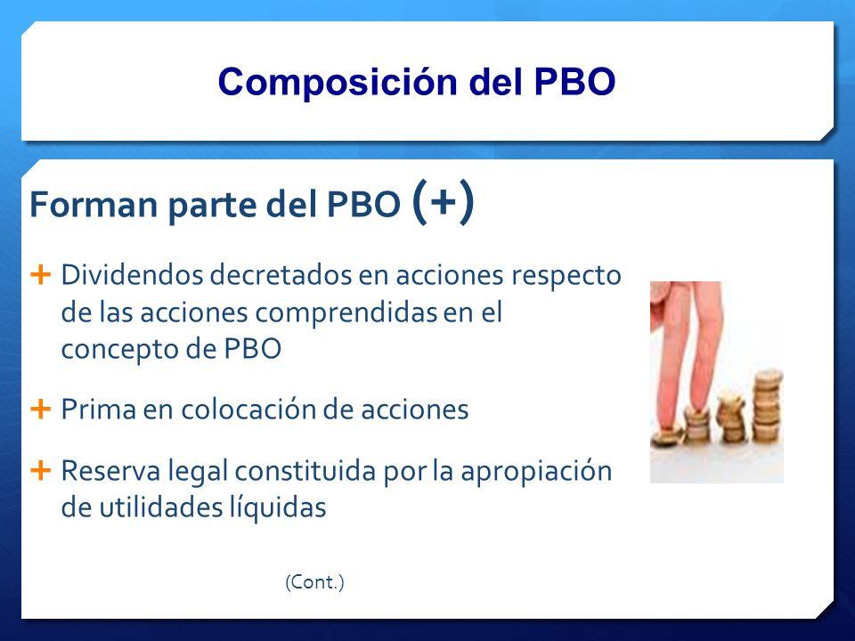 Forman parte del PBO (+)