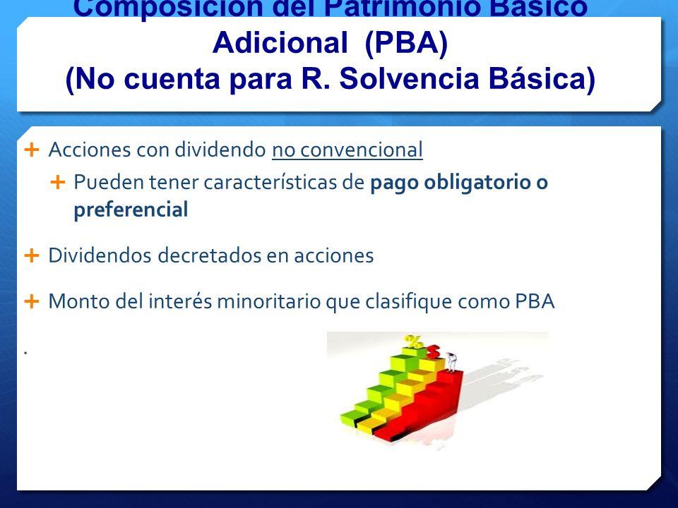 Composición del Patrimonio Básico Adicional (PBA) (No cuenta para R