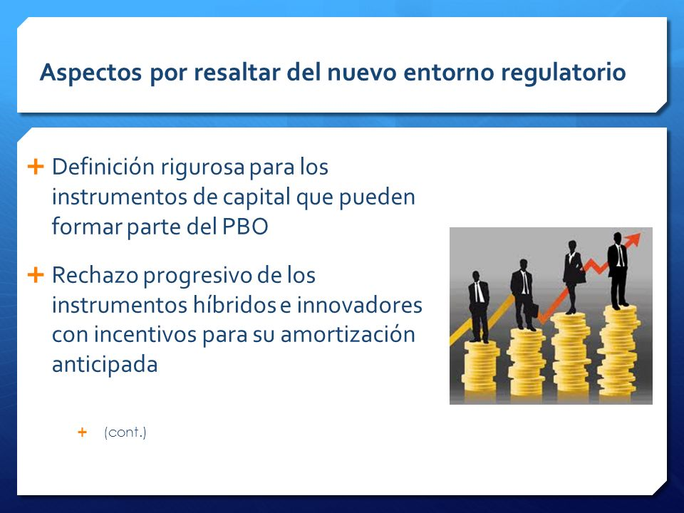 Aspectos por resaltar del nuevo entorno regulatorio