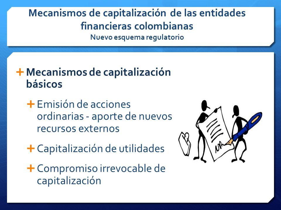 Mecanismos de capitalización básicos