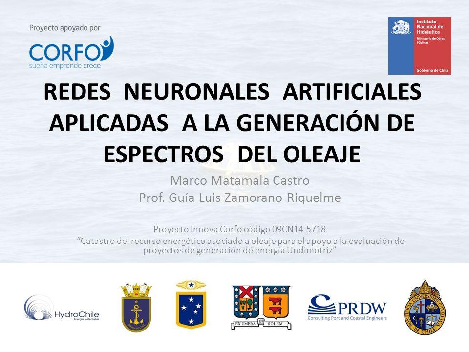 REDES NEURONALES ARTIFICIALES APLICADAS A LA GENERACIÓN DE ESPECTROS DEL OLEAJE