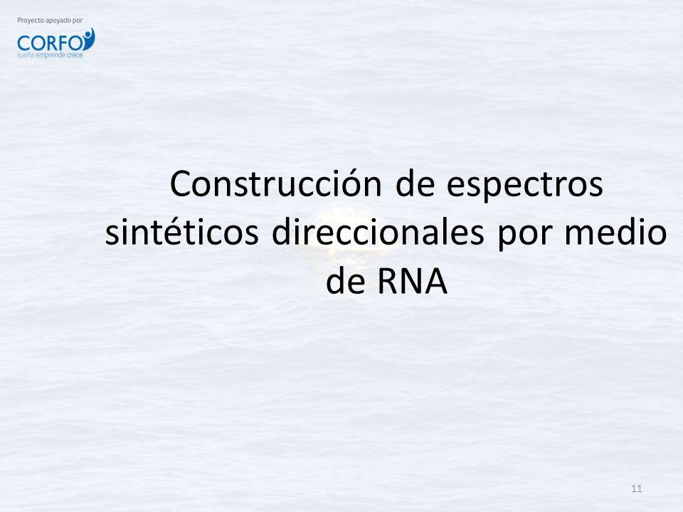 Construcción de espectros sintéticos direccionales por medio de RNA