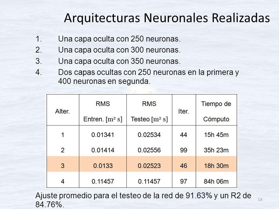 Arquitecturas Neuronales Realizadas