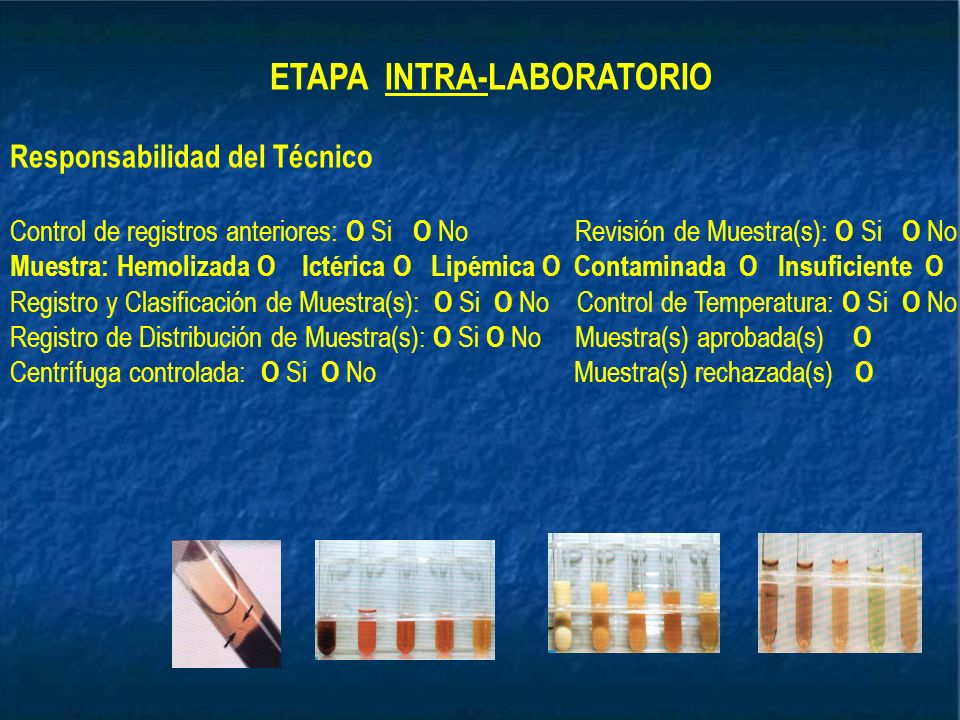 ETAPA INTRA-LABORATORIO