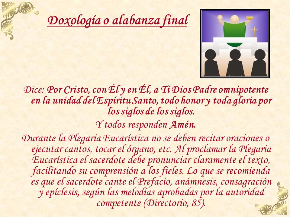 Doxología o alabanza final