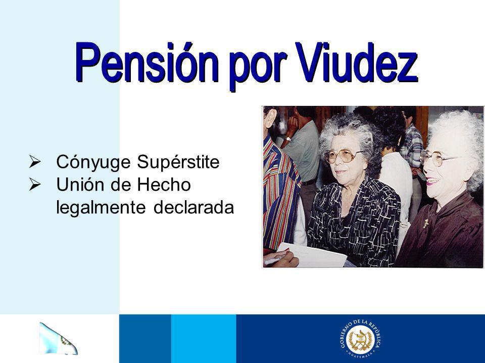 Pensión por Viudez Cónyuge Supérstite