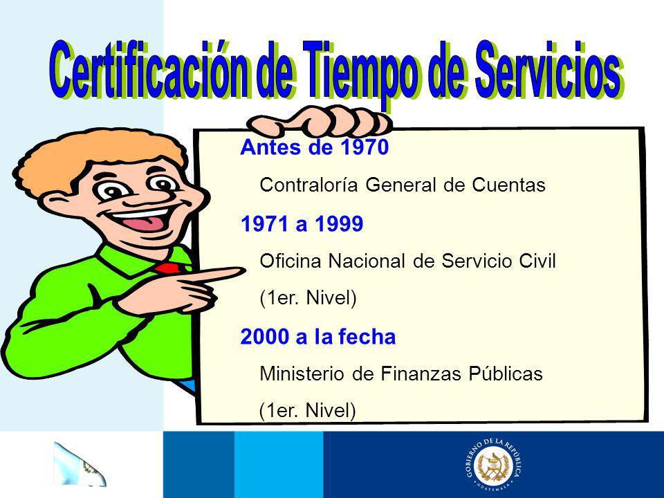 Certificación de Tiempo de Servicios