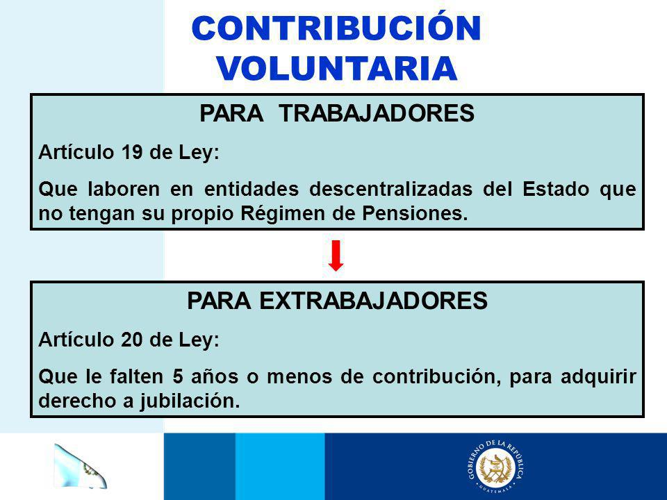 CONTRIBUCIÓN VOLUNTARIA