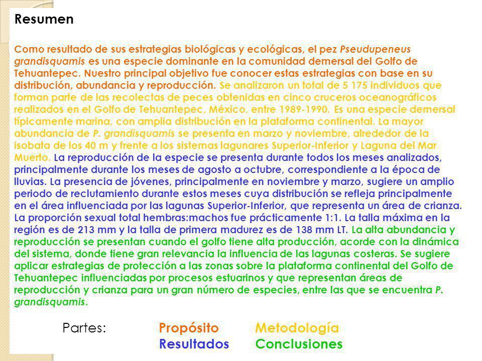Partes: Propósito Metodología Resultados Conclusiones