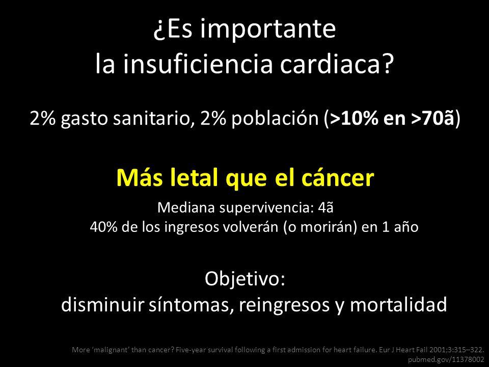 ¿Es importante la insuficiencia cardiaca