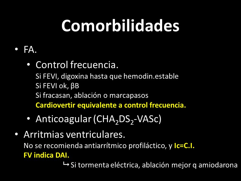 Comorbilidades FA.