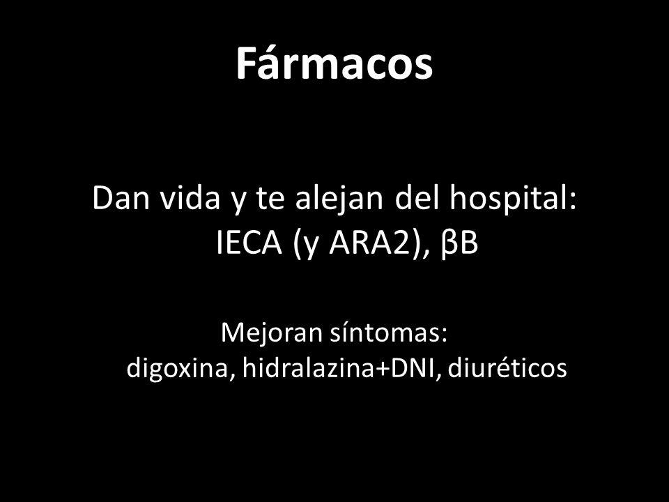 Fármacos Dan vida y te alejan del hospital: IECA (y ARA2), βB