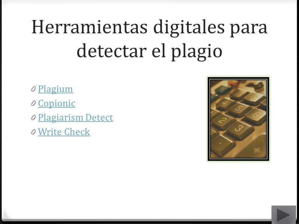 Herramientas digitales para detectar el plagio