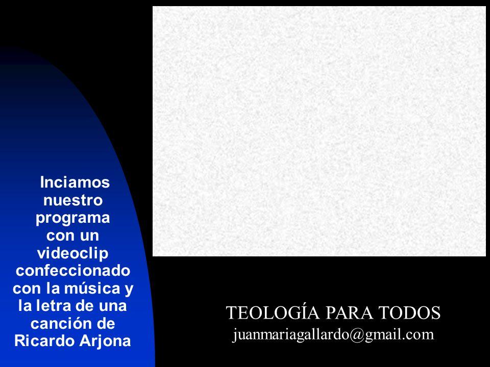 Inciamos nuestro programa con un videoclip confeccionado con la música y la letra de una canción de Ricardo Arjona
