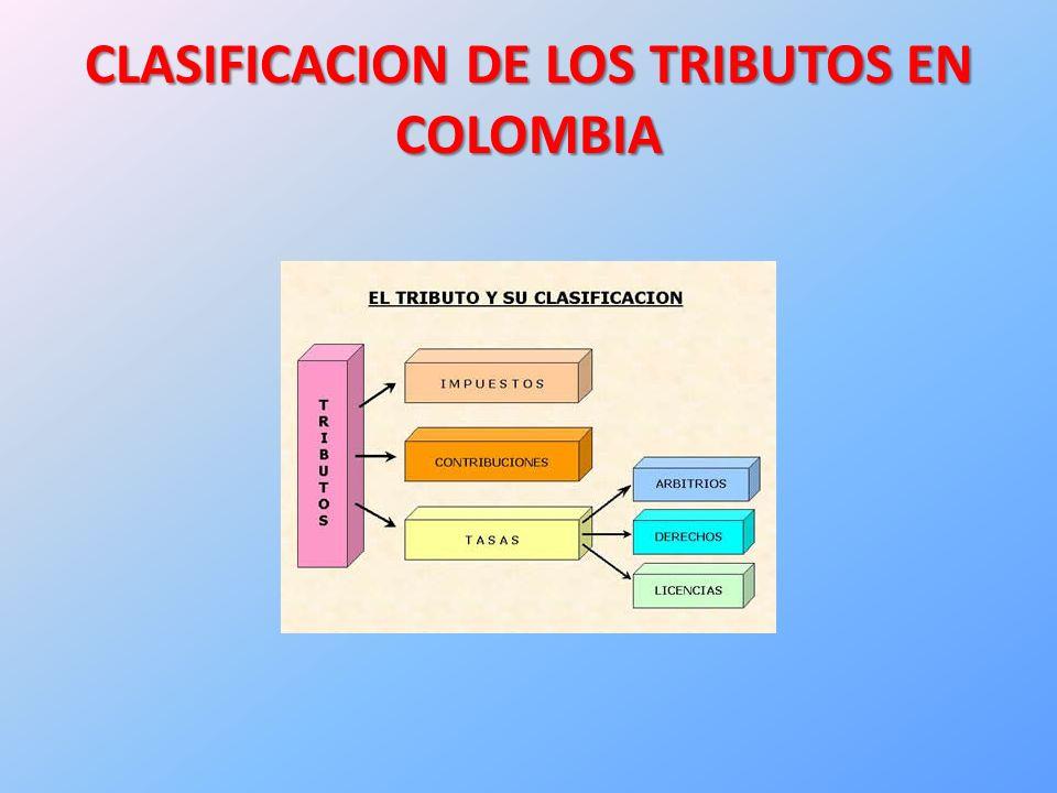 CLASIFICACION DE LOS TRIBUTOS EN COLOMBIA