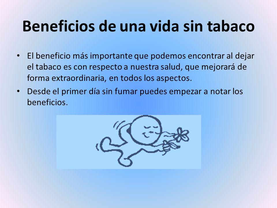 Beneficios de una vida sin tabaco