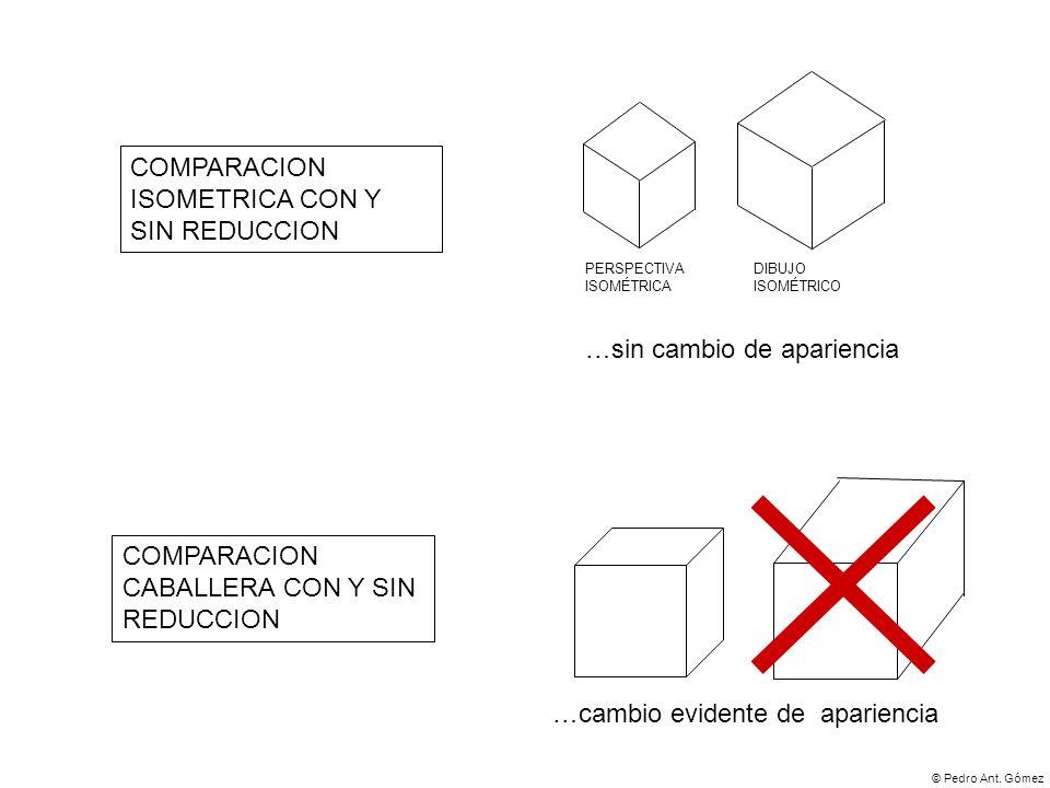COMPARACION ISOMETRICA CON Y SIN REDUCCION