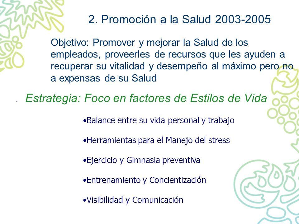 2. Promoción a la Salud 2003-2005
