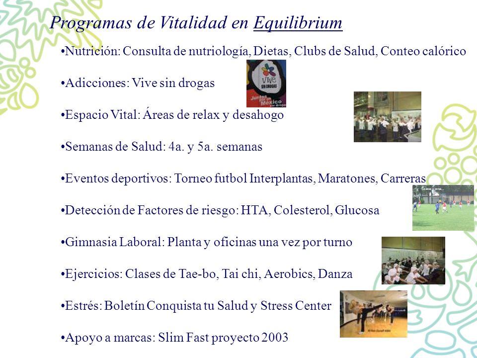 Programas de Vitalidad en Equilibrium