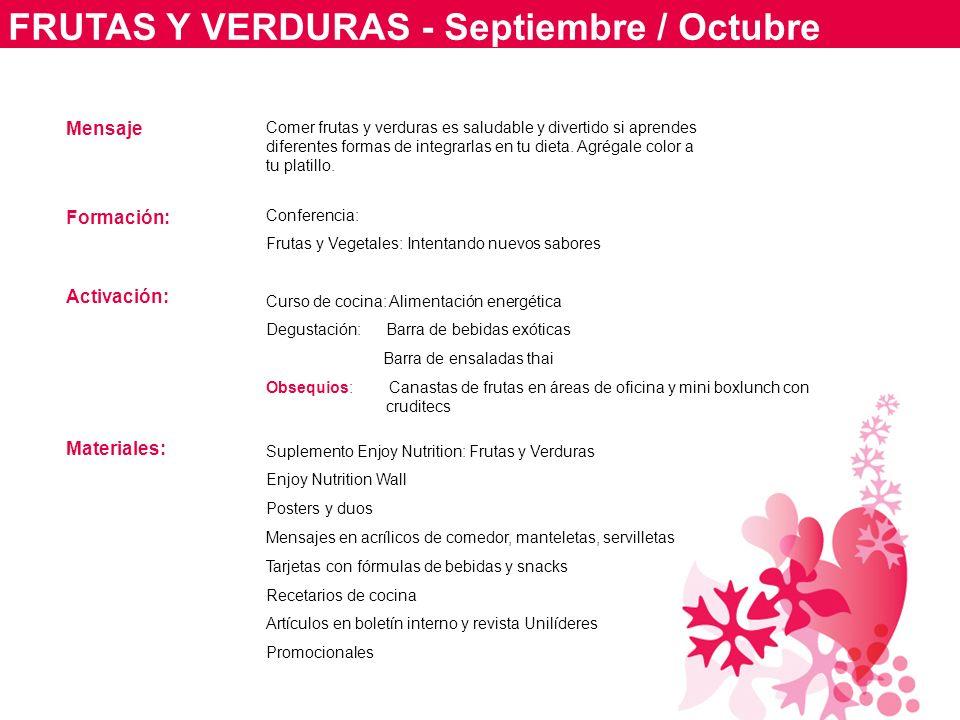 FRUTAS Y VERDURAS - Septiembre / Octubre