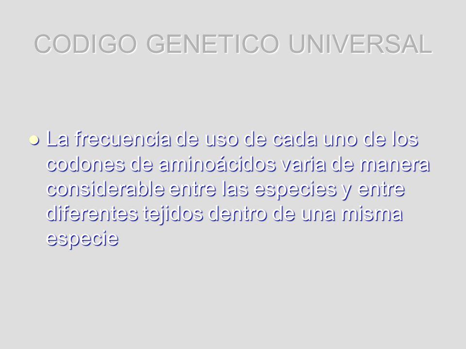 CODIGO GENETICO UNIVERSAL