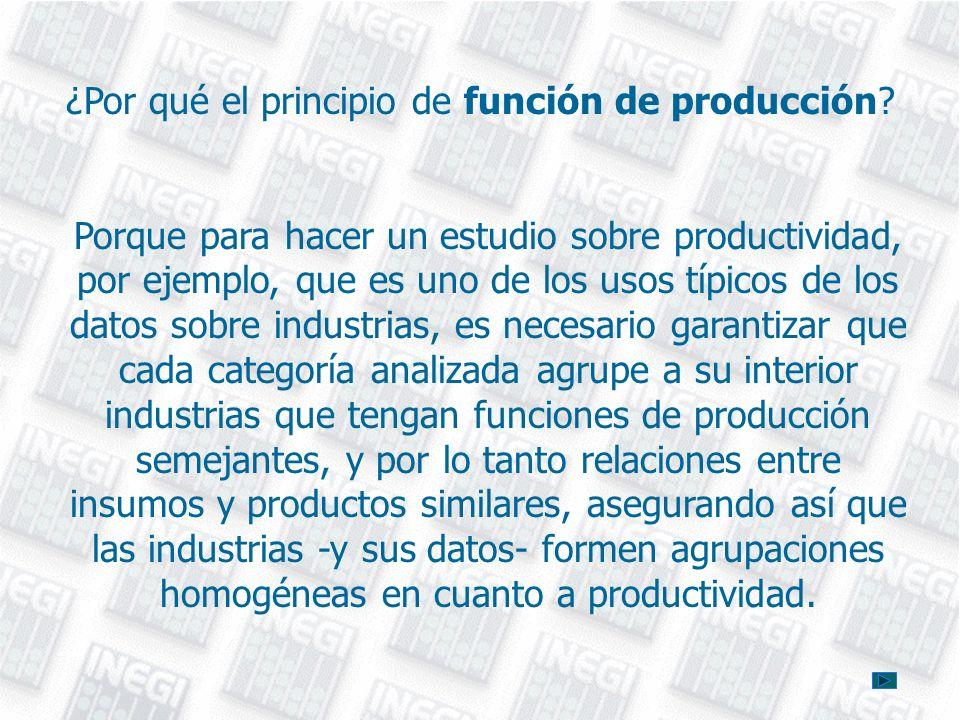 ¿Por qué el principio de función de producción