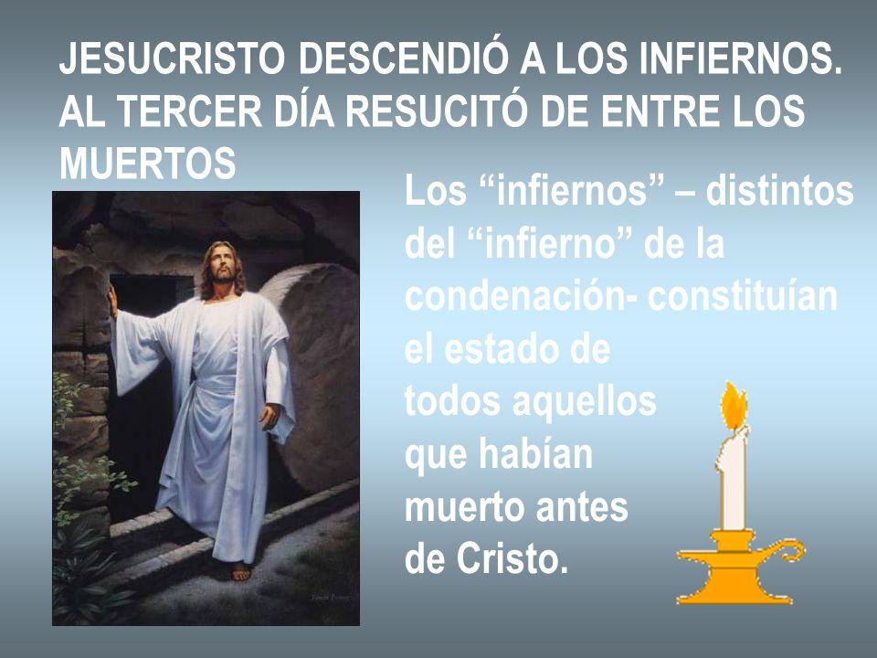 JESUCRISTO DESCENDIÓ A LOS INFIERNOS.