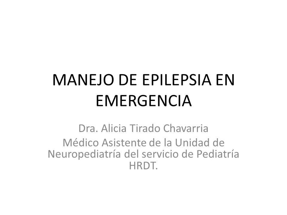 MANEJO DE EPILEPSIA EN EMERGENCIA