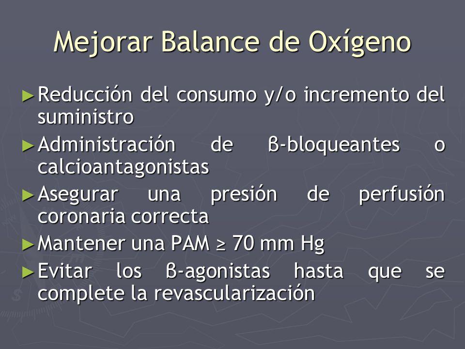 Mejorar Balance de Oxígeno