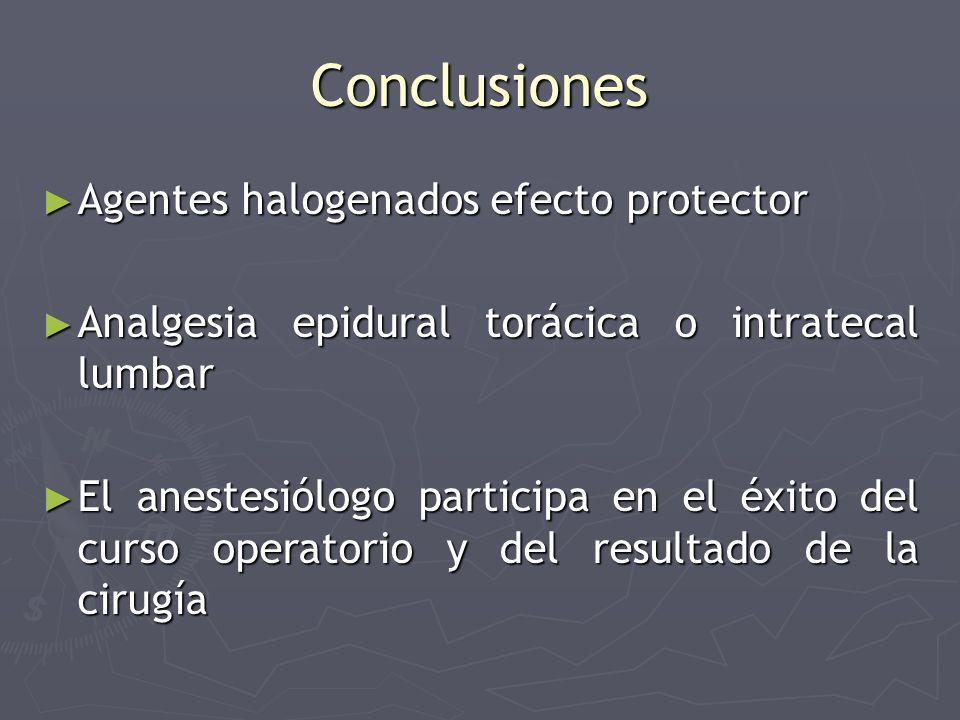 Conclusiones Agentes halogenados efecto protector