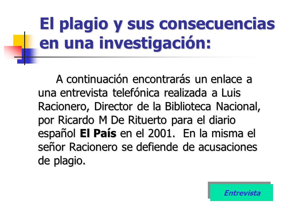 El plagio y sus consecuencias en una investigación: