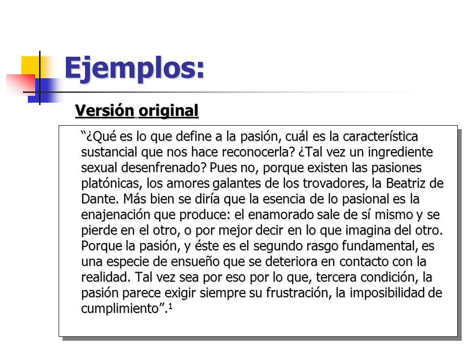 Ejemplos: Versión original