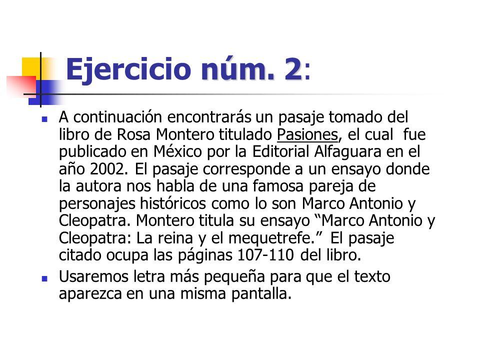 Ejercicio núm. 2: