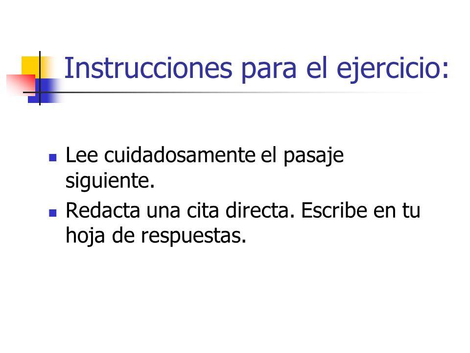 Instrucciones para el ejercicio:
