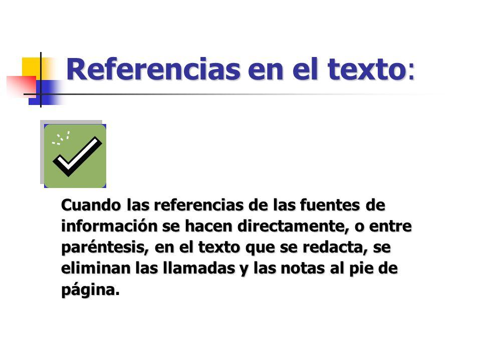 Referencias en el texto: