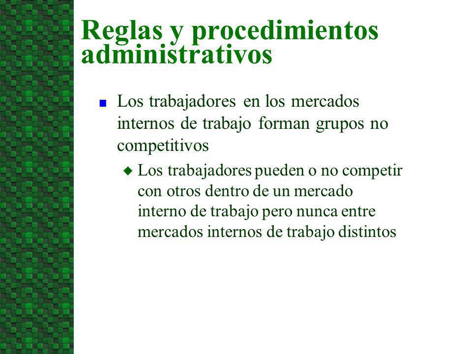 Reglas y procedimientos administrativos