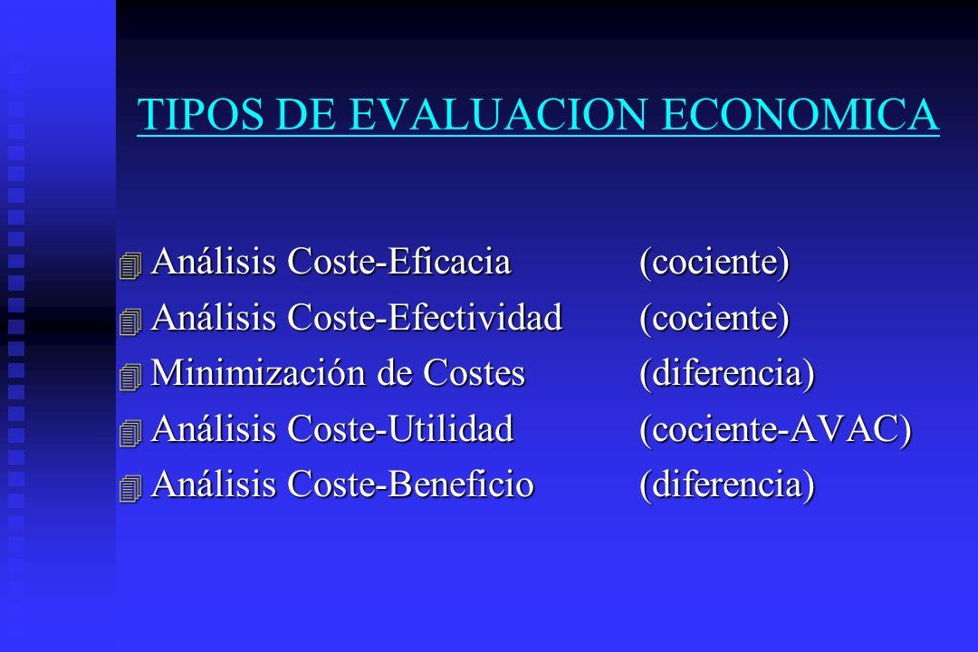 TIPOS DE EVALUACION ECONOMICA