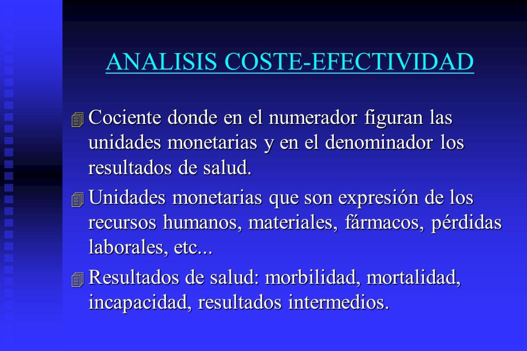 ANALISIS COSTE-EFECTIVIDAD